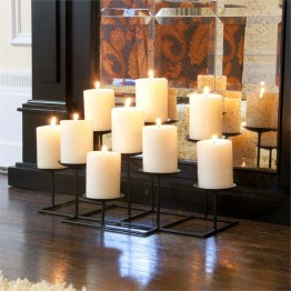 Southern Enterprises 9 Candle Candelabra in Matte Black