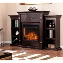 Southern Enterprises Tennyson Infrared Electric Fireplace in Espresso