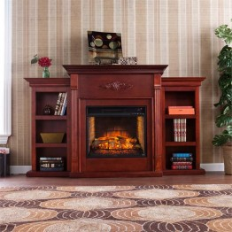 Southern Enterprises Tennyson Infrared Electric Fireplace in Mahogany