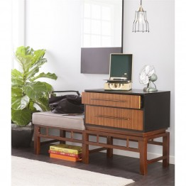 Holly & Martin Brock Storage Bench in Black