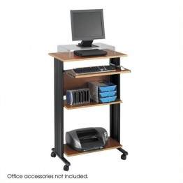 Safco M??V Standing Wood Workstation in Cherry