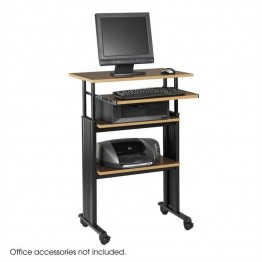 Safco M??V Stand-Up Adjustable Height Workstation in Cherry