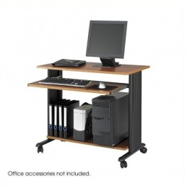 "Safco M??V 35"""" Fixed Height Wood Workstation in Cherry"