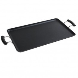 "Alpine Cuisine 19"""" x 11"""" Aluminum Griddle in Gray"