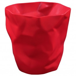 Modway Lava Plastic Trash Can in Red