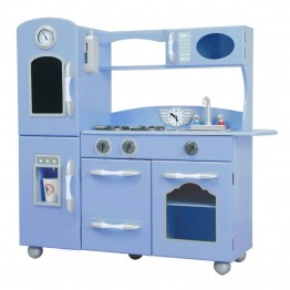 Teamson Retro Play Kitchen in Serenity Blue