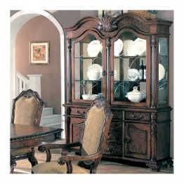 Bowery Hill China Cabinet in Deep Brown