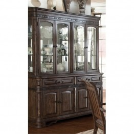 Bowery Hill China Cabinet in Vintage Espresso
