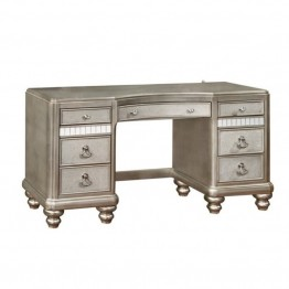 Bowery Hill 7 Drawer Bedroom Vanity in Metallic Platinum