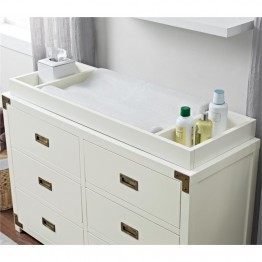 MonBebe Wyatt Removable Changing Tray in Classic White