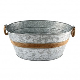 Cambridge Bar Shiloh Galvanized Beverage Tub