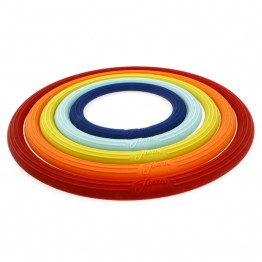 Fiesta 5 Piece Multicolor Trivet Set