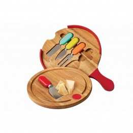 Fiesta Multicolor 6 Piece Cutting Board with Cheese Tools