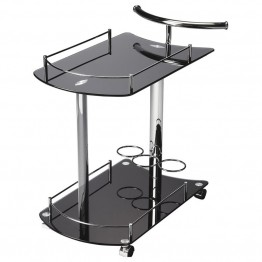 Butler Specialty Butler Loft Serving Cart in Black Glass