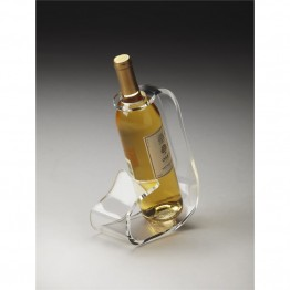 Butler Specialty Hors Doeuvres Wine Bottle Stand in Clear