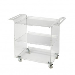 Butler Specialty Butler Loft Trolley Server in Clear Acrylic