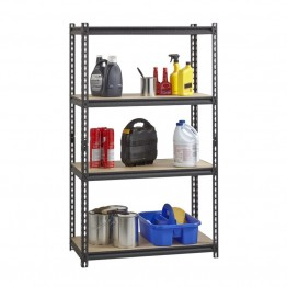 "Hirsh Iron Horse 2300 18"""" x 36"""" x 60"""" 4 Shelf Storage Unit in Black"