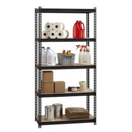 "Hirsh Iron Horse 2300 18"""" x 36"""" x 72"""" 5 Shelf Storage Unit in Black"