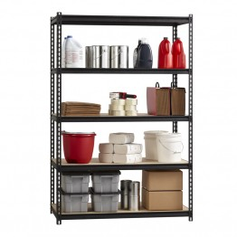 "Hirsh Iron Horse 2300 18"""" x 48"""" x 72"""" 5 Shelf Storage Unit in Black"