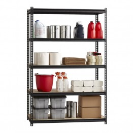 "Hirsh Iron Horse 2300 24"""" x 48"""" x 72"""" 5 Shelf Storage Unit in Black"