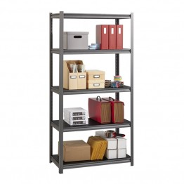 "Hirsh Iron Horse 3200 18"""" x 36"""" x 72"""" 5 Shelf Storage Unit in Gray"