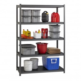 "Hirsh Iron Horse 3200 18"""" x 48"""" x 72"""" 5 Shelf Storage Unit in Gray"