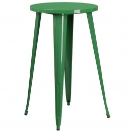 Flash Furniture Metal Patio Bistro Table in Green