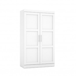Bestar Pur Pullout Armoire in White