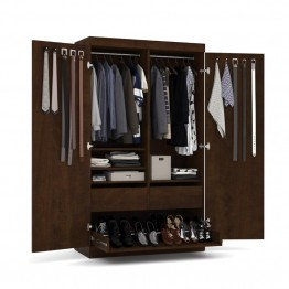 Bestar Pur Pullout Armoire in Chocolate