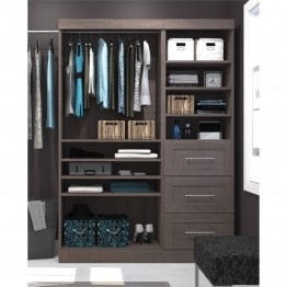 "Bestar Pur 61"""" Classic Storage Kit in Bark Gray"