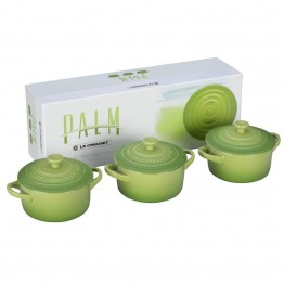 Le Creuset 8 oz. Mini Cocotte in Palm (Set of 3)