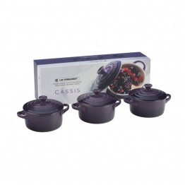 Le Creuset 8 oz. Mini Cocotte in Cassis (Set of 3)