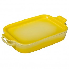 Le Creuset Rectangular Dish with Platter Lid in Soleil