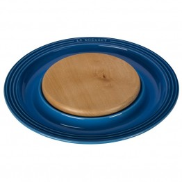 "Le Creuset 15"""" Round Platter with Cutting Board in Marseille"
