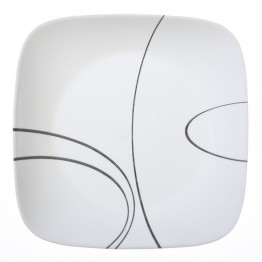 Corelle Square Simple Lines Dinner Plate