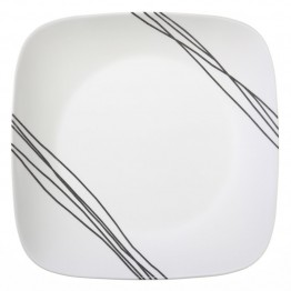 Corelle Square Simple Sketch Dinner Plate