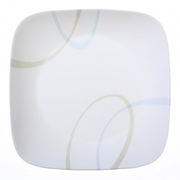 Corelle Square Sand and Sky Dinner Plate