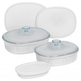 CorningWare 8 Piece Bakeware Set in French White