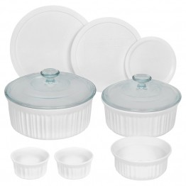 CorningWare 10 Piece Bakeware Set in French White