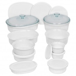 CorningWare French White 20 Piece Bakeware Set