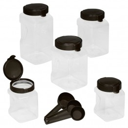Snapware 10 Piece Plastic Cannister Set in Warm Metallic