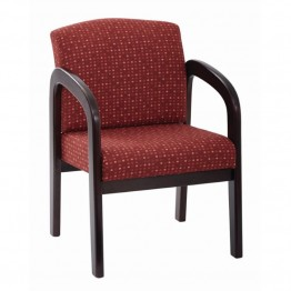 Scranton & Co Guest Chair in Ruby