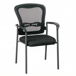 Scranton & Co Visitors Guest Chair in Black and Titanium