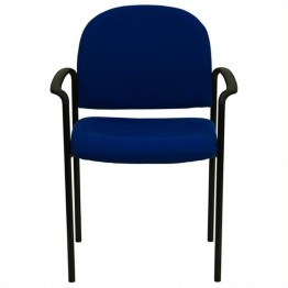 Scranton & Co Side Office Stacking Chair in Navy Blue