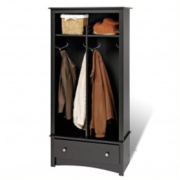 Bowery Hill Hall Tree Organizer in Black