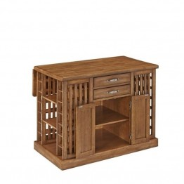 Bowery Hill Kitchen Island in Warm Oak