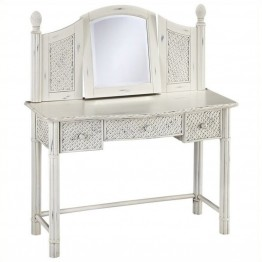 Bowery Hill Bedroom Vanity and Mirror in White