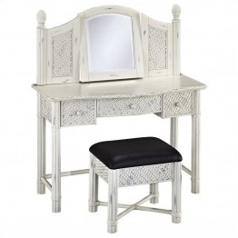Bowery Hill Bedroom Vanity and Bench in White