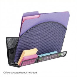 Safco Onyx Magnetic Mesh File Pocket with Accessory Organizer (Set of 6)