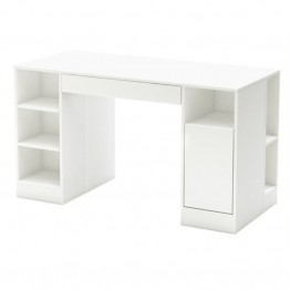 Bowery Hill Craft Table in Pure White